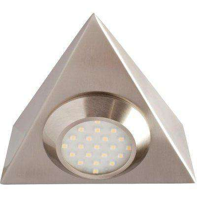 Robus PRISM LED 2W Triangular Cabinet Light, Mains Voltage - Warm White Integrated Luminaire - R3011LED240WW-13