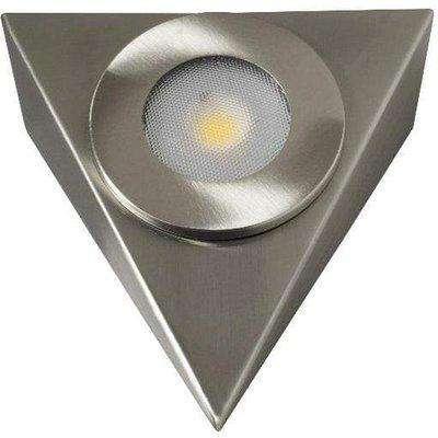 Robus Royal Brushed Chrome 2.5W LED 240V Triangular Cabinet Light - Warm White