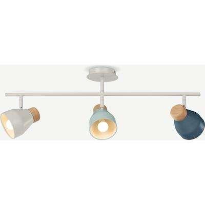 Albert Ceiling Spotlight Bar, Duck Egg, Muted Grey and Dusk Blue