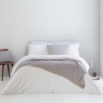 Alexia Stonewashed Cotton Duvet Cover + 2 Pillowcases, Super King, White