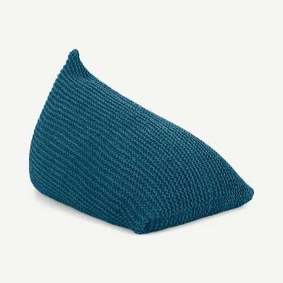 Andra Large Chunky Knit Bean Bag, Teal