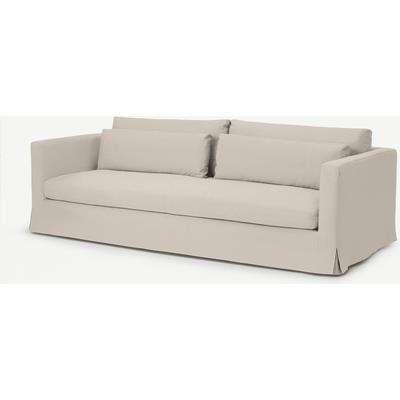 Arabelo 4 Seater Loose Cover Sofa, Natural Cotton & Linen Mix Fabric