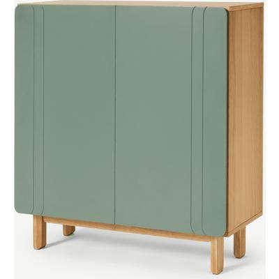 Asuna Hallway Storage Cabinet, Oak & Fern Green