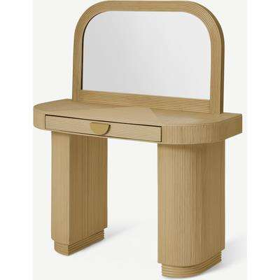 Azrou Dressing Table, Natural Cane