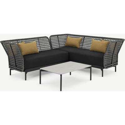 Balawa Garden Corner Sofa Set, Grey