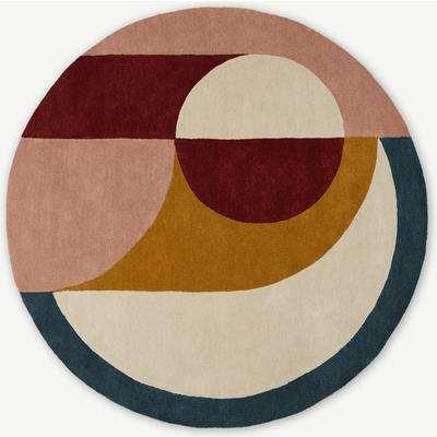 Bascome Round Handtufted Wool Rug, 200cm diam, Multi