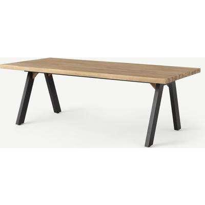 Bosco Garden Dining Table, Black & Acacia Wood