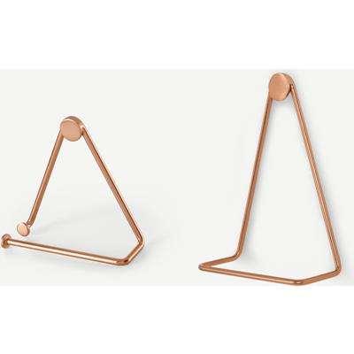 Bran Towel Ring & Toilet Roll Holder Set, Copper