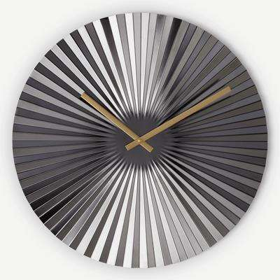 Bushwick Large Statement Fan Wall Clock 50cm, Gunmetal