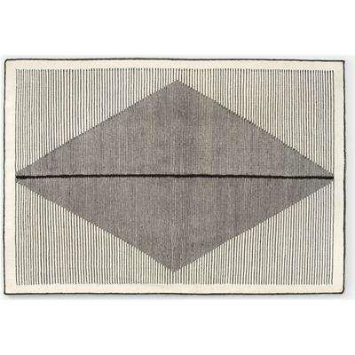Camden Diamond Wool Rug, Large 160 x 230cm, Black and Off White