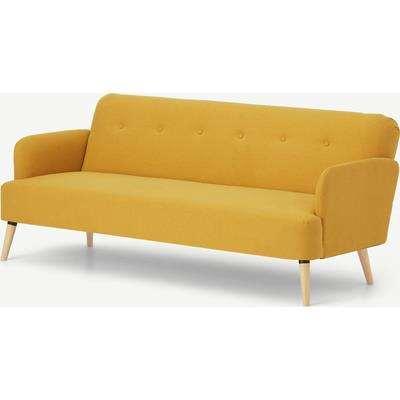 Elvi Click Clack Sofa Bed, Butter Yellow