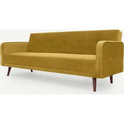 Chou Click Clack Sofa Bed, Vintage Gold Velvet