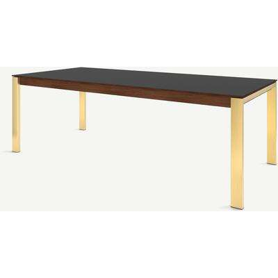 Corinna 10 Seat Dining Table, Grey HPL & Brass