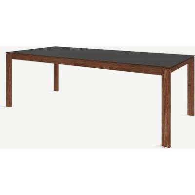 Corinna 10 Seat Dining Table, Grey HPL & Walnut