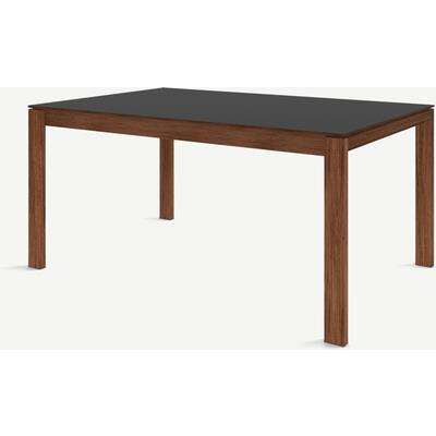 Corinna 6 Seat Dining Table, Grey HPL & Walnut