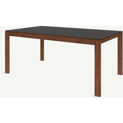 Corinna 8 Seat Dining Table, Grey HPL & Walnut