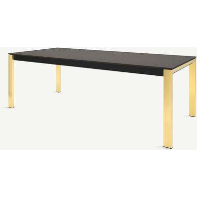 Corinna 10 Seat Dining Table, Concrete & Brass