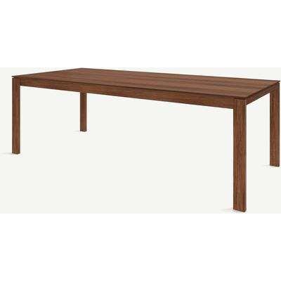 Corinna 10 Seat Dining Table, Walnut