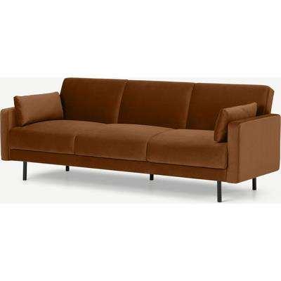 Delphi Click Clack Sofa Bed, Cinnamon Velvet