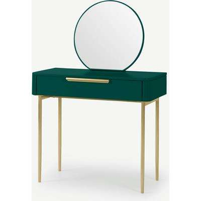 Ebro Dressing Table, Peacock Green