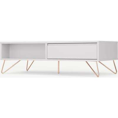 Elona Coffee Table, Light Grey and Copper