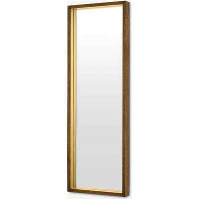 Emsworth Full Length Mirror 40 x 120cm, Mango Wood & Brass