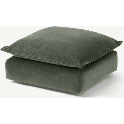 Fernsby Footstool, Spruce Chenille