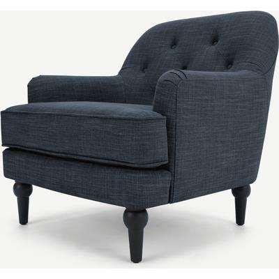 Flynn Armchair, Atlantic Blue Linen Mix