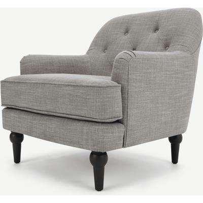 Flynn Armchair, Grey Linen Mix