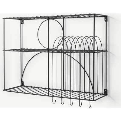Gulli Extra Large Wall Mounted Kitchen Storage Rack, Black