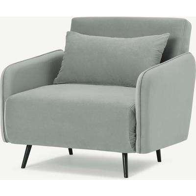 Hettie Single Sofa Bed, Ice Blue Velvet
