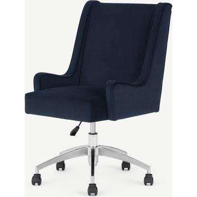 Higgs Office Chair, Royal Blue Velvet