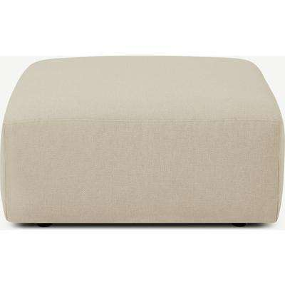 Jacklin Footstool, Natural Recycled Weave