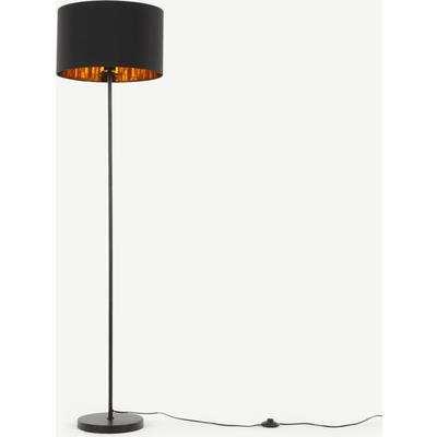 Jacy Floor Lamp, Black & Copper