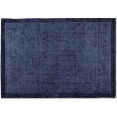 Jago Border Rug, Extra Large 200 x 300cm, Ink Blue