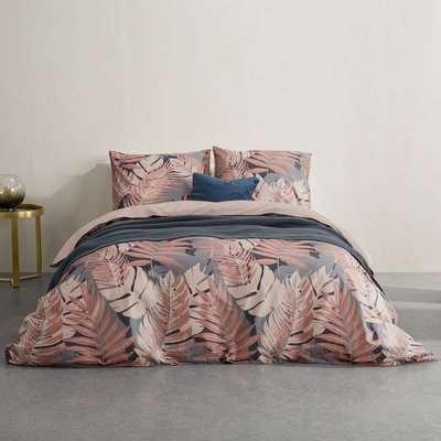 Jangala Cotton Duvet Cover + 2 Pillowcases, King, Pink