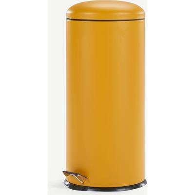 Joss 30L Domed Pedal Bin, Yellow