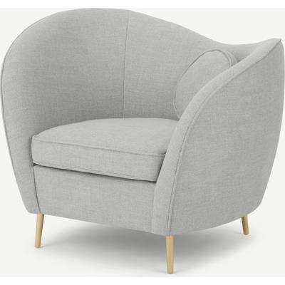 Kooper Accent Armchair, Luna Grey Weave