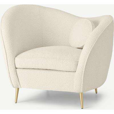Kooper Accent Armchair, Whitewash Boucle