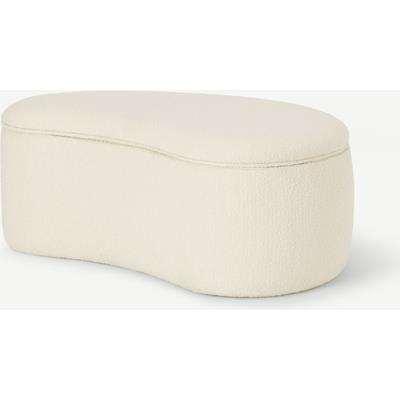Kooper Storage Pouffe, White Wash Boucle