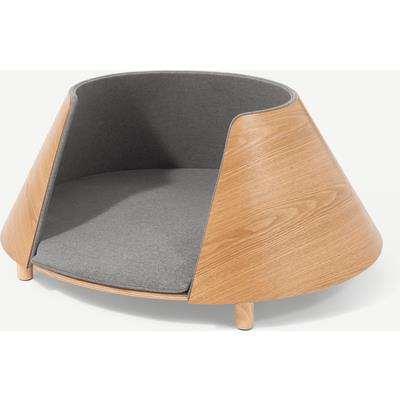Kyali Round Pet Bed, S/M, Natural Ash & Grey