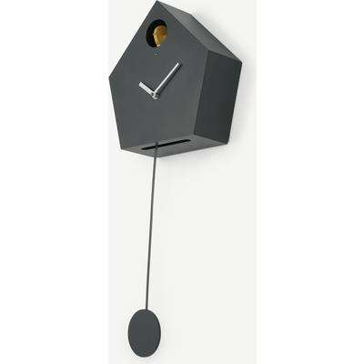 Lark Cuckoo & Pendulum Wall Clock, Charcoal Grey
