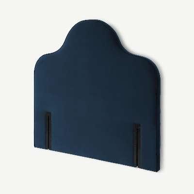 Letty Double Headboard, Sapphire Blue Velvet