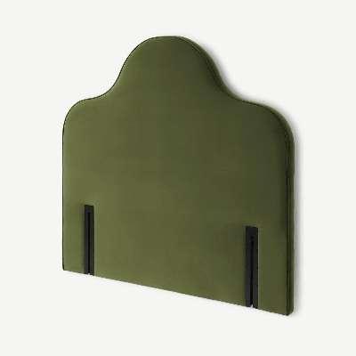 Letty King Size Headboard, Fir Green Velvet