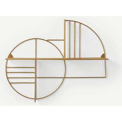 Leyla Graphic Wall Shelf, Brass