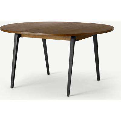Lucien 4-6 Seat Round Extending dining table, Dark Mango Wood