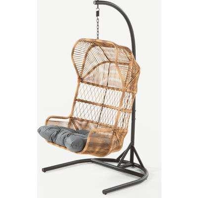 Lyra Garden Hanging Chair, Charcoal Grey