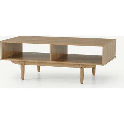 Asger Storage Coffee Table, Oak Effect