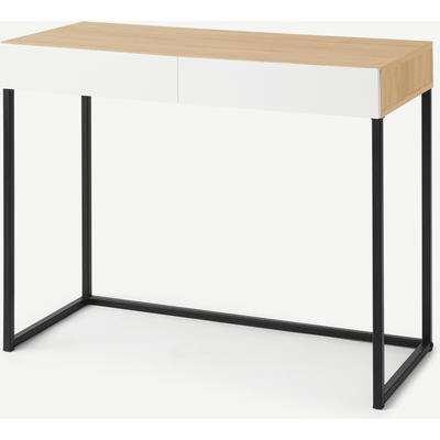 Hopkins Compact Desk, Oak Effect & White