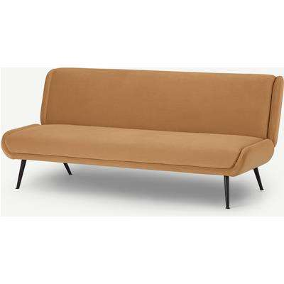 Moby Click Clack Sofa Bed, Apricot Velvet